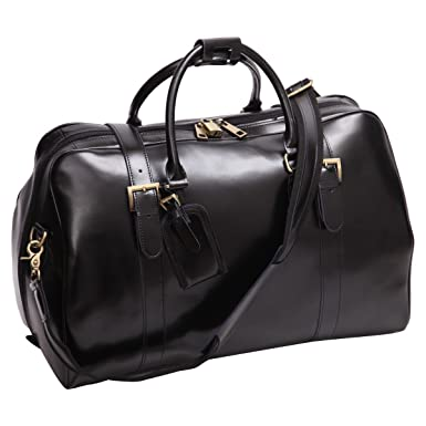 Image Unavailable. Image not available for. Color  Leathario Mens Genuine  Leather Overnight Travel Duffle Weekend Bag (Black-141) 992d924462