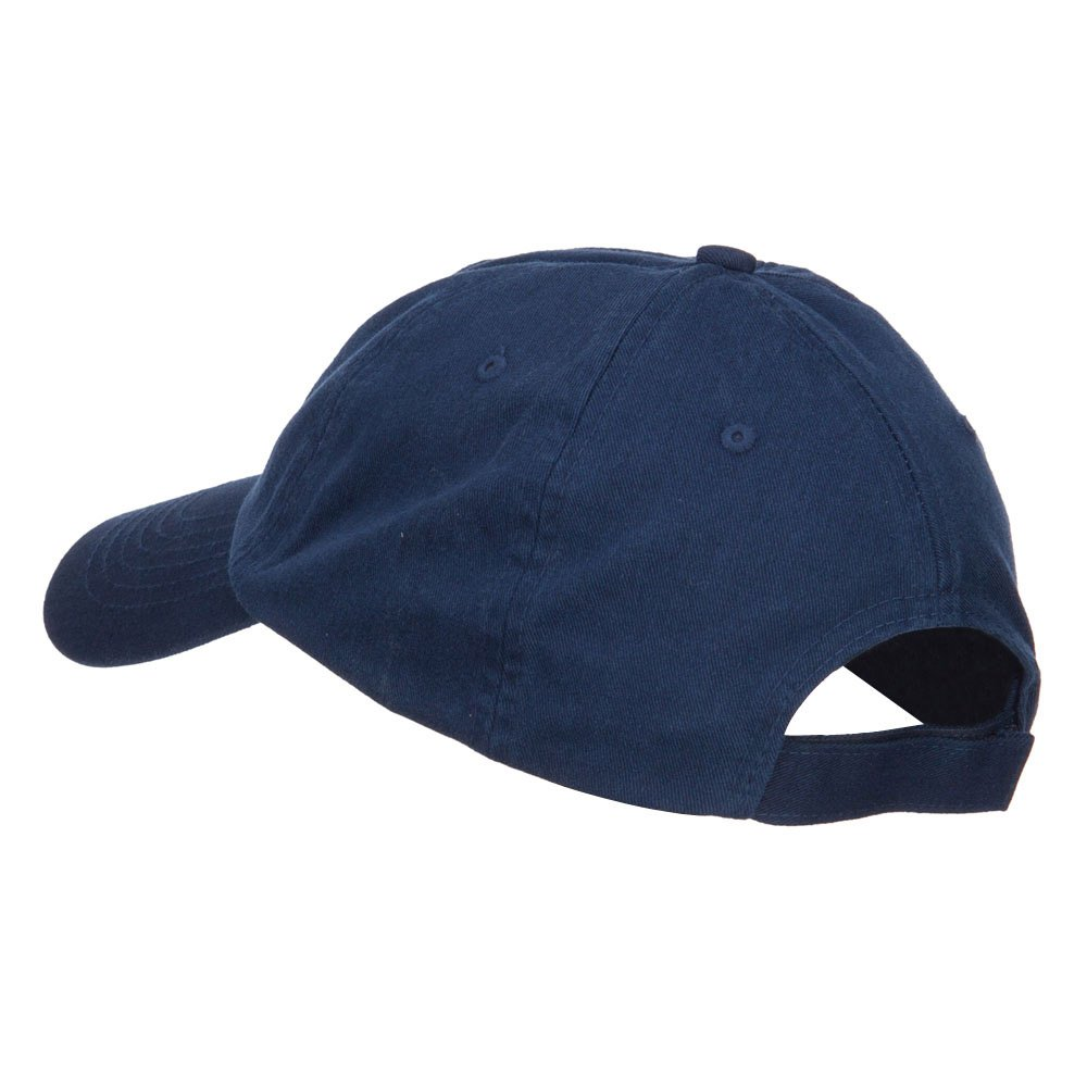 Double Anchor Embroidered Low Cap