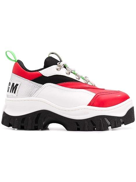 MSGM Sneakers Donna 2542Mds18800800 Pelle Bianco  Amazon.it  Scarpe e borse e9d25b12d71