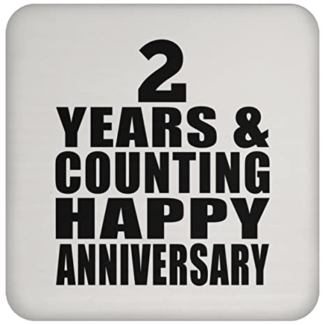 Happy 2nd Anniversary 2 Years & Counting - Drink Coaster ...