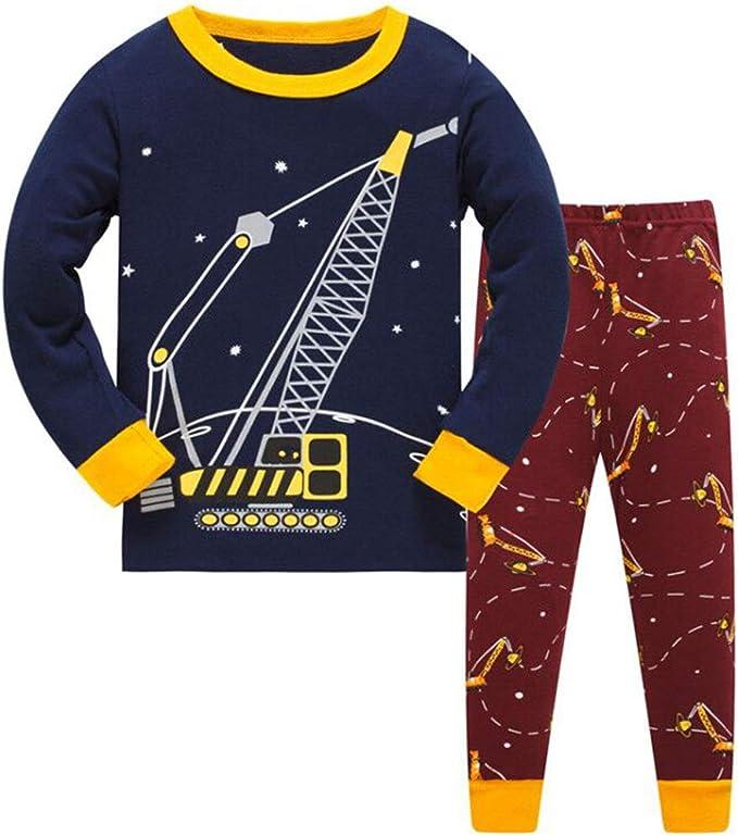Pijama Niño Invierno-Pijama para Niños-Pijamas de Excavador Cohete ...