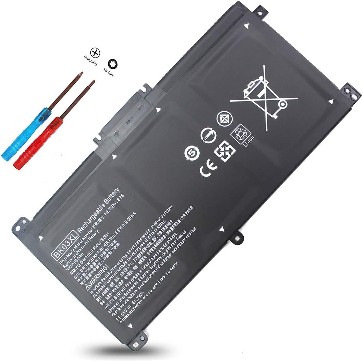 BK03XL Battery for HP Pavilion X360 14m-ba011dx 14m-ba013dx 14m-ba015dx 14m-ba114dx 14-ba253cl 14-ba125cl 14-ba175nr 14-ba051cl 916366-421 916811-855 916366-541 HSTNN-LB7S HSTNN-UB7G 916812-855 14 14M