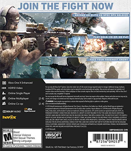 Tom Clancy's Ghost Recon Breakpoint Steelbook Gold Edition - Xbox One