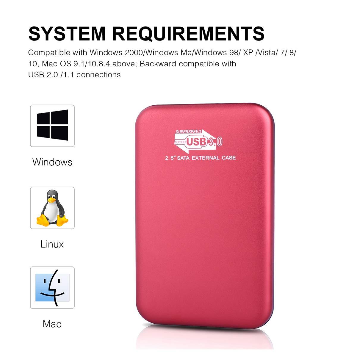 External Hard Drive, Portable Hard Drive USB3.0 Hard Drive Compatible Mac, PC, Desktop, Laptop, MacBook, Chromebook, Xbox One, Xbox 360, PS4 (1TB, Black) by Amtete (Image #4)