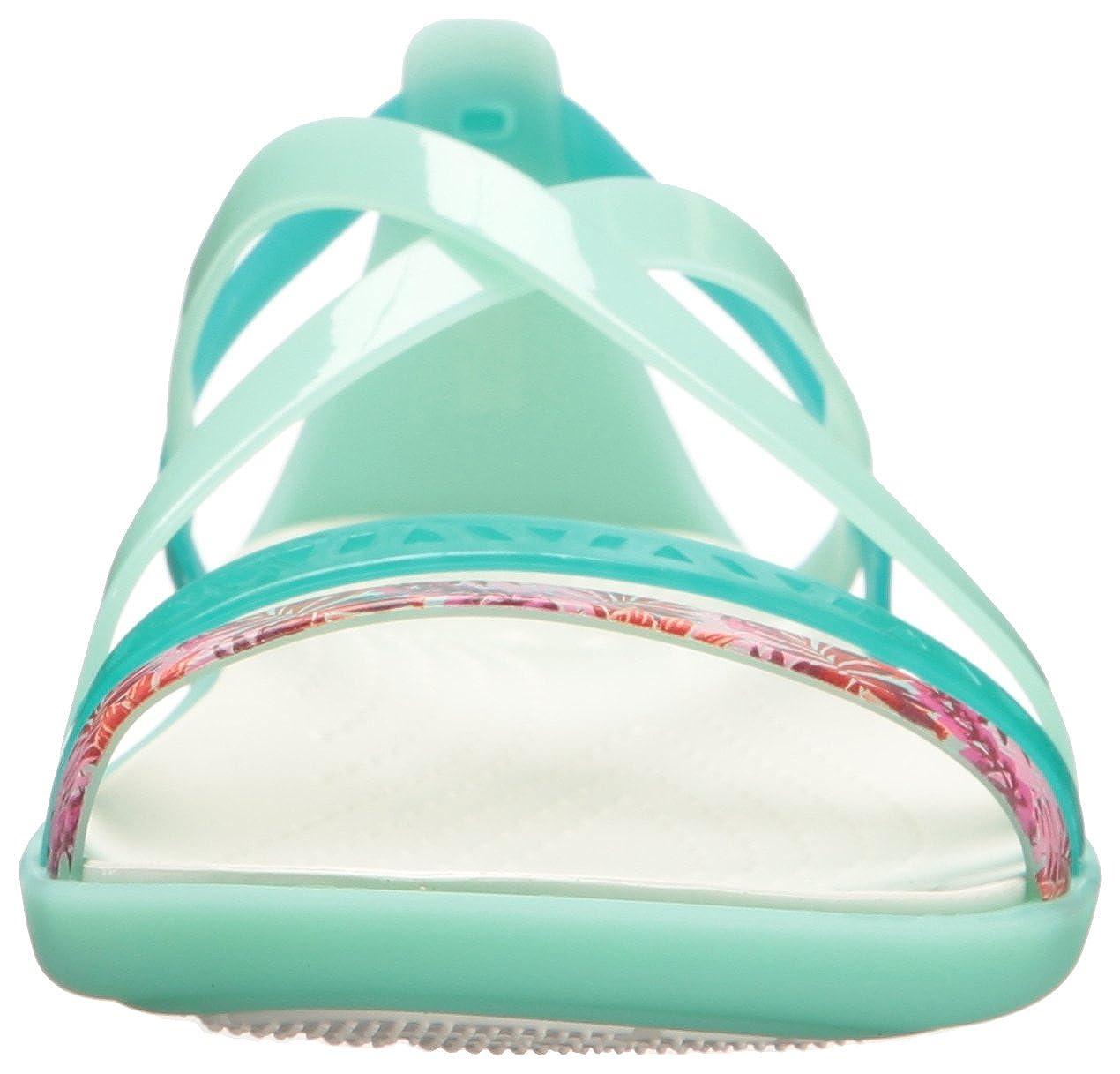 Crocs Sandale Damen Sandale Crocs Isabella Cut GRPH Strappy 205150 New Mint/Oyster 4c23c3