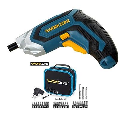 Work Zona atornillador inalámbrico 3.6 V Li-ion con bolsa y ...