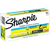 Sharpie Highlighters, Chisel Tip, Fluorescent Yellow, 12-Count