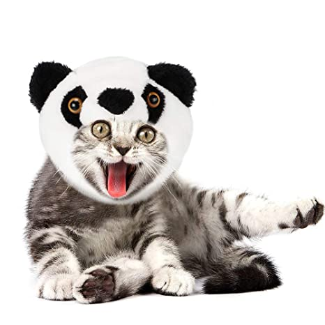 JDYW Disfraz de Mascotas Peluca Panda Linda para Gatos Perro pequeño Disfraz de Fiesta navideña para