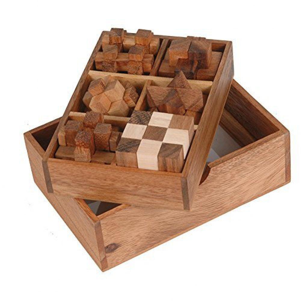 【同梱不可】 [ウッデンハウス]WoodenHouse 6 [並行輸入品] Puzzle box Gift Set Puzzle in a wooden fancy box 6835347 [並行輸入品] B01EXB7S42, 食器専門店テーブルウェアイースト:382f118f --- arianechie.dominiotemporario.com
