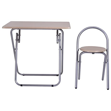 Study Writing Desk Table Chair Set Folding Student Children For Your kids To Study Write  sc 1 st  Amazon.com & Amazon.com: Study Writing Desk Table Chair Set Folding Student ...