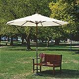 Coolaroo Timber Umbrella Round 9' Natural