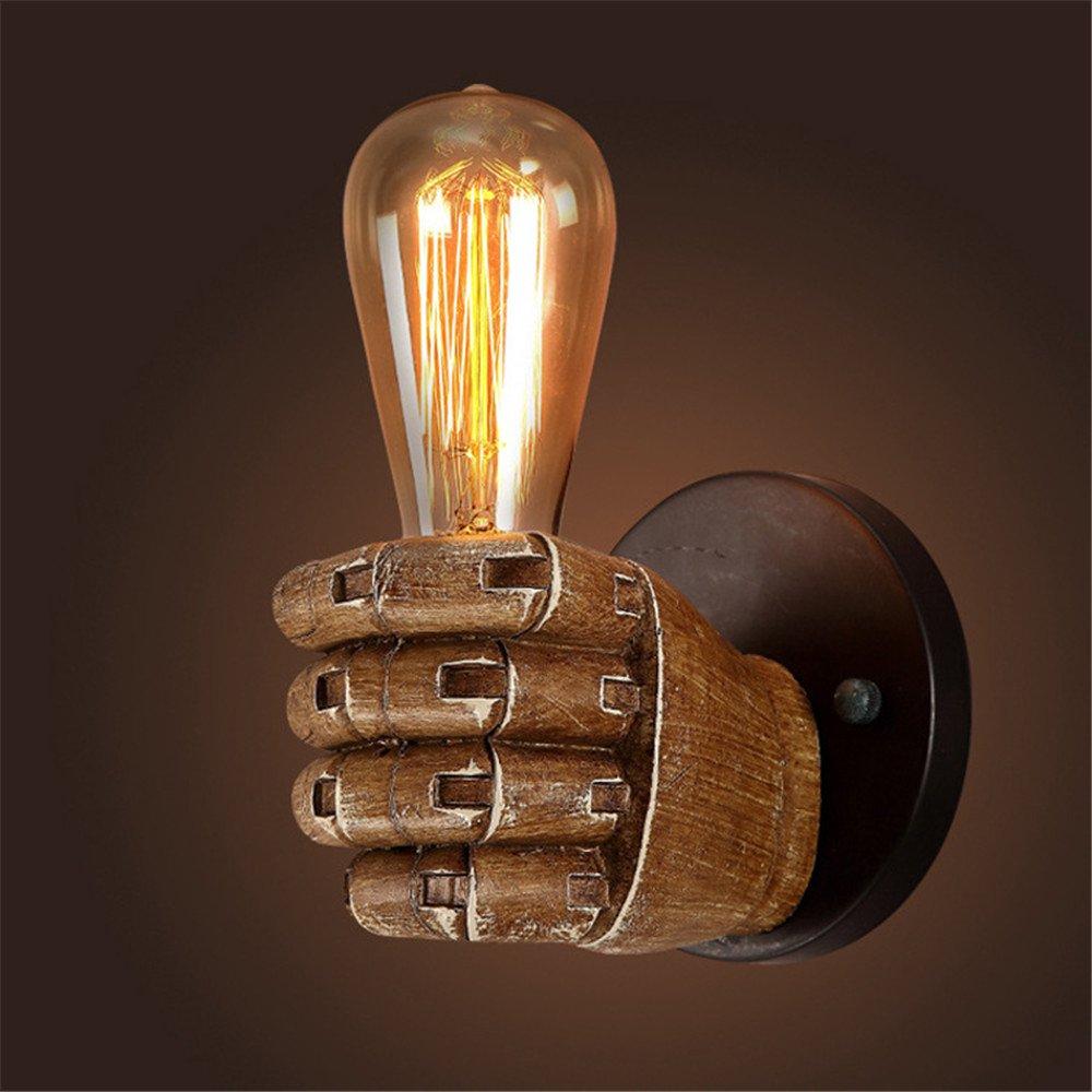 kinine Vintage acqua tubo parete luce Fixture industriale ottone parete Sconce Edison lampada retrò metallo applique retrò soffitto luce lampada da parete retrò 05 … (Left) [Classe di efficienza energetica A++] kinine-quantou-1