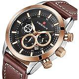 Watch Men's Watch Business Casual Sports Watch Waterproof Chronograph Display Fashion Quartz Watch