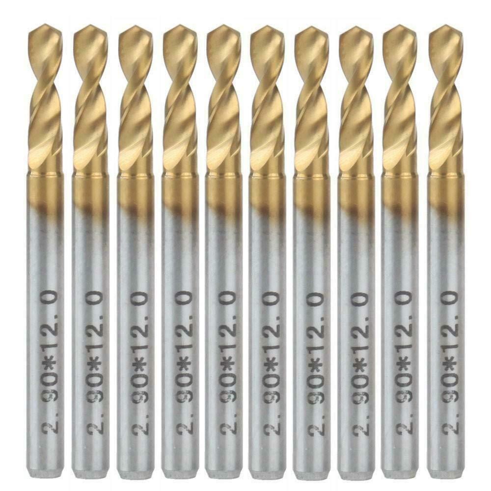 EU/_HOZLY Lot de 10 forets en carbure de carbone avec rev/êtement en nitrure de titane 0.3MM 10