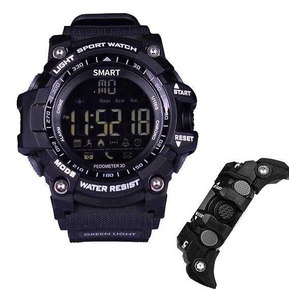 imusk EX16 reloj inteligente hombres reloj deportivo 5 ATM impermeable Bluetooth 4.0 SmartWatch podómetro llamada recordatorio de cronómetro