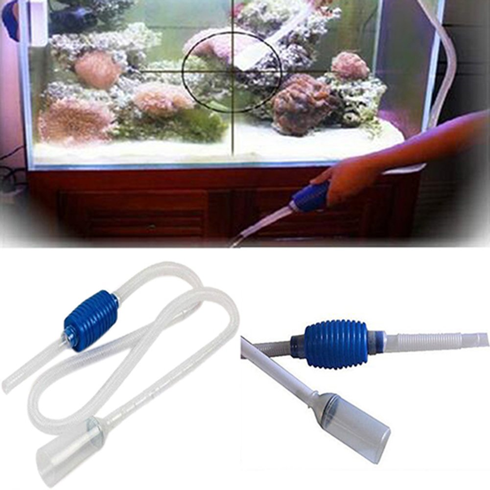 Aquarium - Tubo de limpieza para acuario con filtro para tanque de peces, con bomba de sifón Brussels08 TRTAZ11A