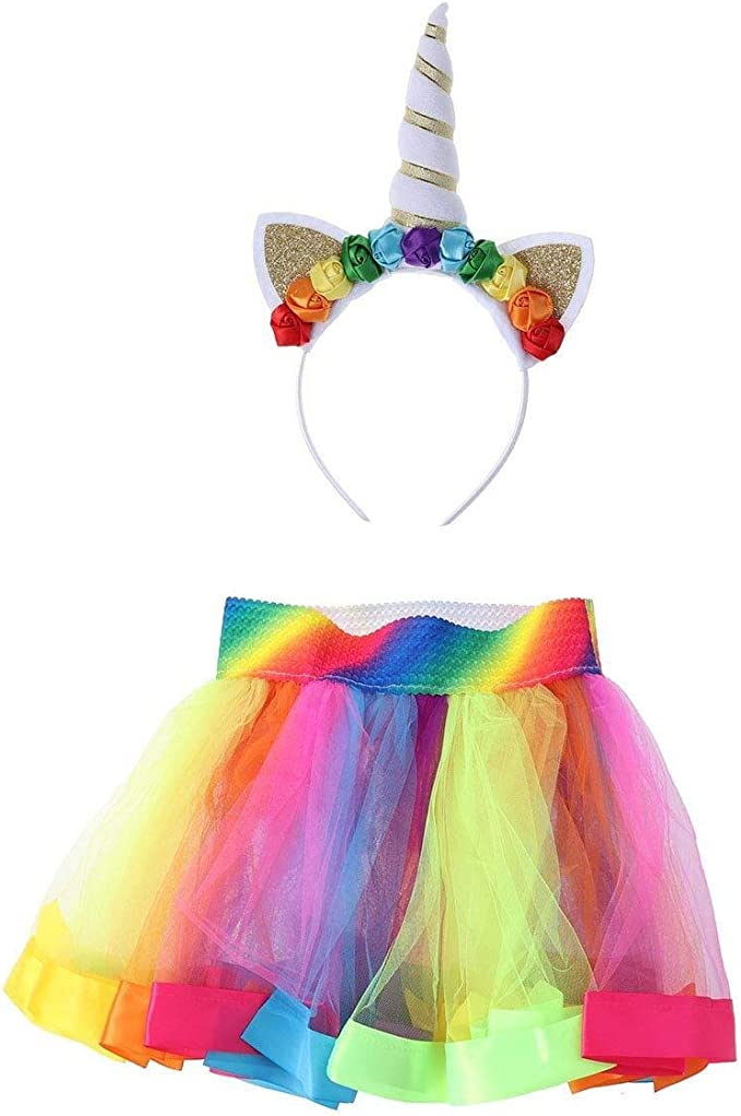 Diadema de moda Disfraz de unicornio for niñas Falda de tutú ...