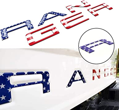Tailgate Inserts Letters Compatible for Ford Ranger 2019 2020 Accessories