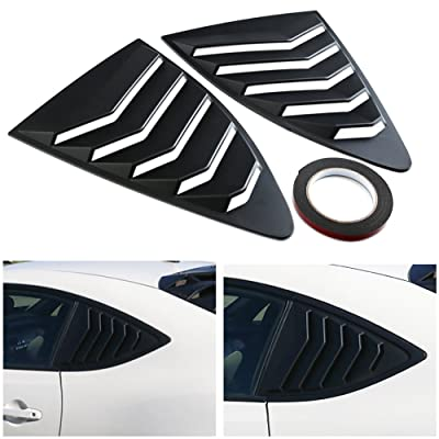 DTOUCH Racing 2 Piece ABS 2 Piece Window Left/Right Matte Finish Racing Style Rear Side Window Vent/Louvers for 2013-up Scion FR-S Subaru BRZ and Toyota 86: Automotive