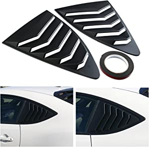 DTOUCH Racing 2 Piece ABS 2 Piece Window Left/Right Matte Finish Racing Style Rear Side Window Vent/Louvers Compatible with 2013-up Scion FR-S Subaru BRZ and Toyota 86