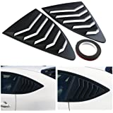 DTOUCH Racing 2 Piece ABS 2 Piece Window Left/Right Matte Finish Racing Style Rear Side Window Vent/Louvers for 2013-up…