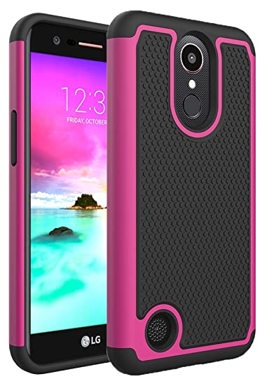 pretty nice b567d 5cb3f LG K10 2017 Case, LG V5 Case, LG K20 V Case, GreenElec Hybrid Dual Layer  Armor Defender Protective Rubber Case Cover With Fit Perfect Shock  Absorbing ...