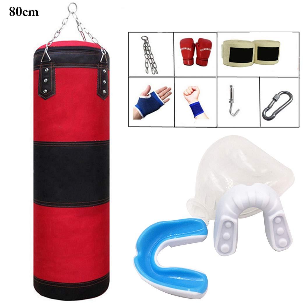 Fansport Boxsack Set Ungef/üLlte Boxsack Mit Thail/äNdischem Trainingshandschuh Mundschutz