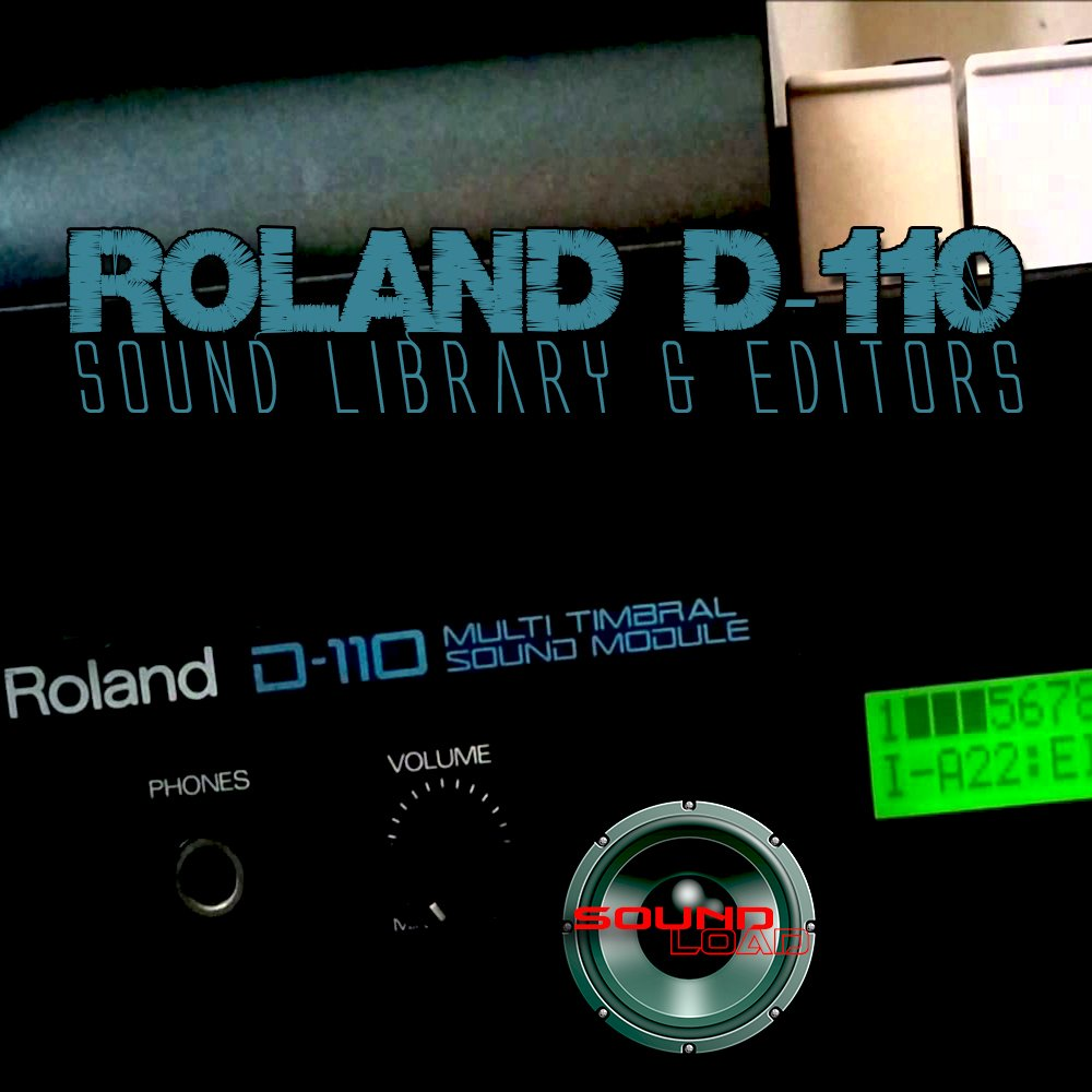 for ROLAND D-110 Large Original Factory and NEW Created Sound Library & Editors on CD or download