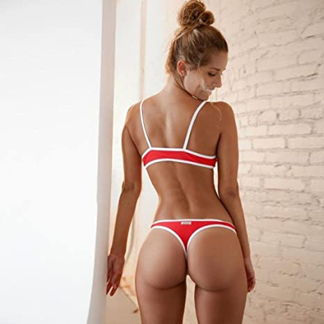 ... de playa Sujetador push-up bikini niña brasileño bañador natación deportivos de playa Tops y Braguitas tangas culotes: Amazon.es: Ropa y accesorios