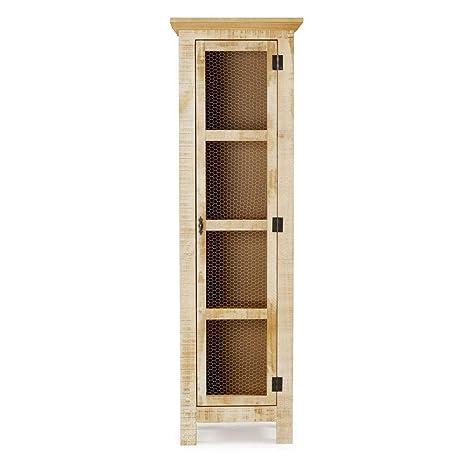 Amazon.com: Armario estrecho reclinable de madera maciza de ...
