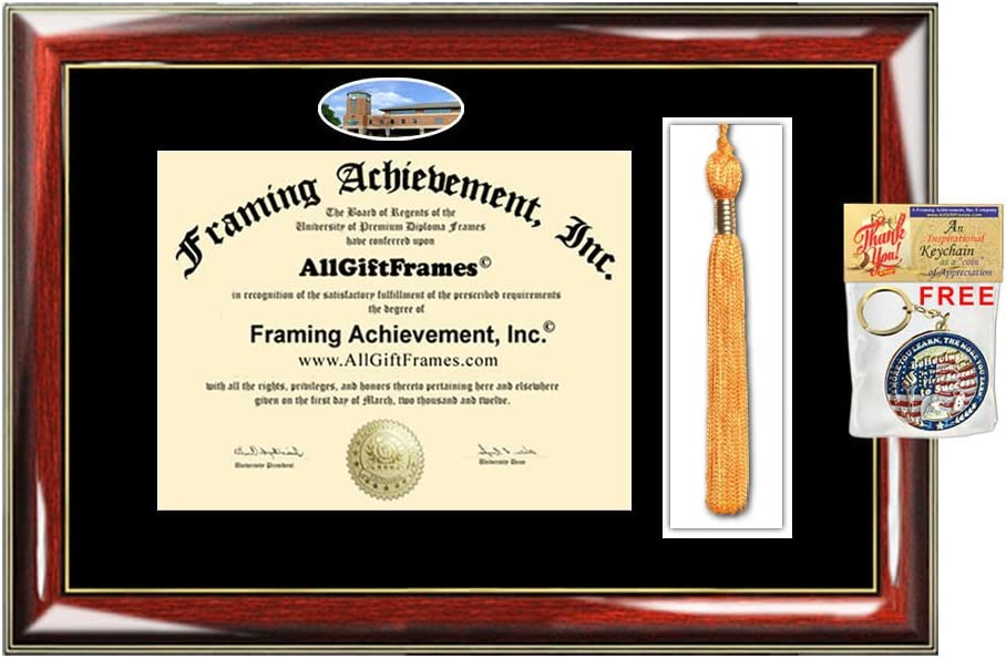 Roger Williams University Tassel Diploma Frame Graduation Tassel Box RWU School Campus Photo Custom Degree Framing Tassel Box Gift Bachelor Master MBA PHD Certificate Holder