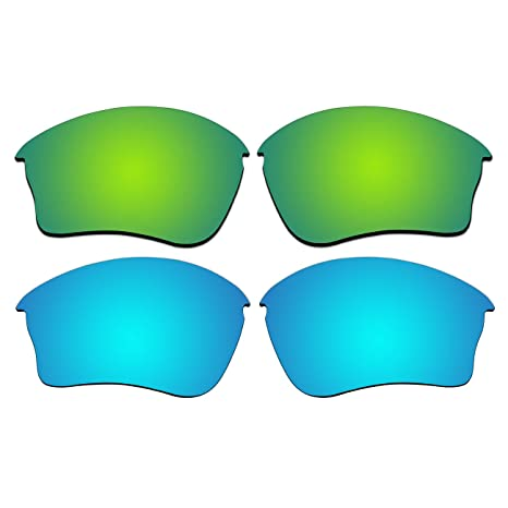 0abb2fa9c3 Amazon.com  ACOMPATIBLE Replacement Polarized Emerald Green and Ice Blue  Lenses for Oakley Half Jacket XLJ Sunglasses  Sports   Outdoors