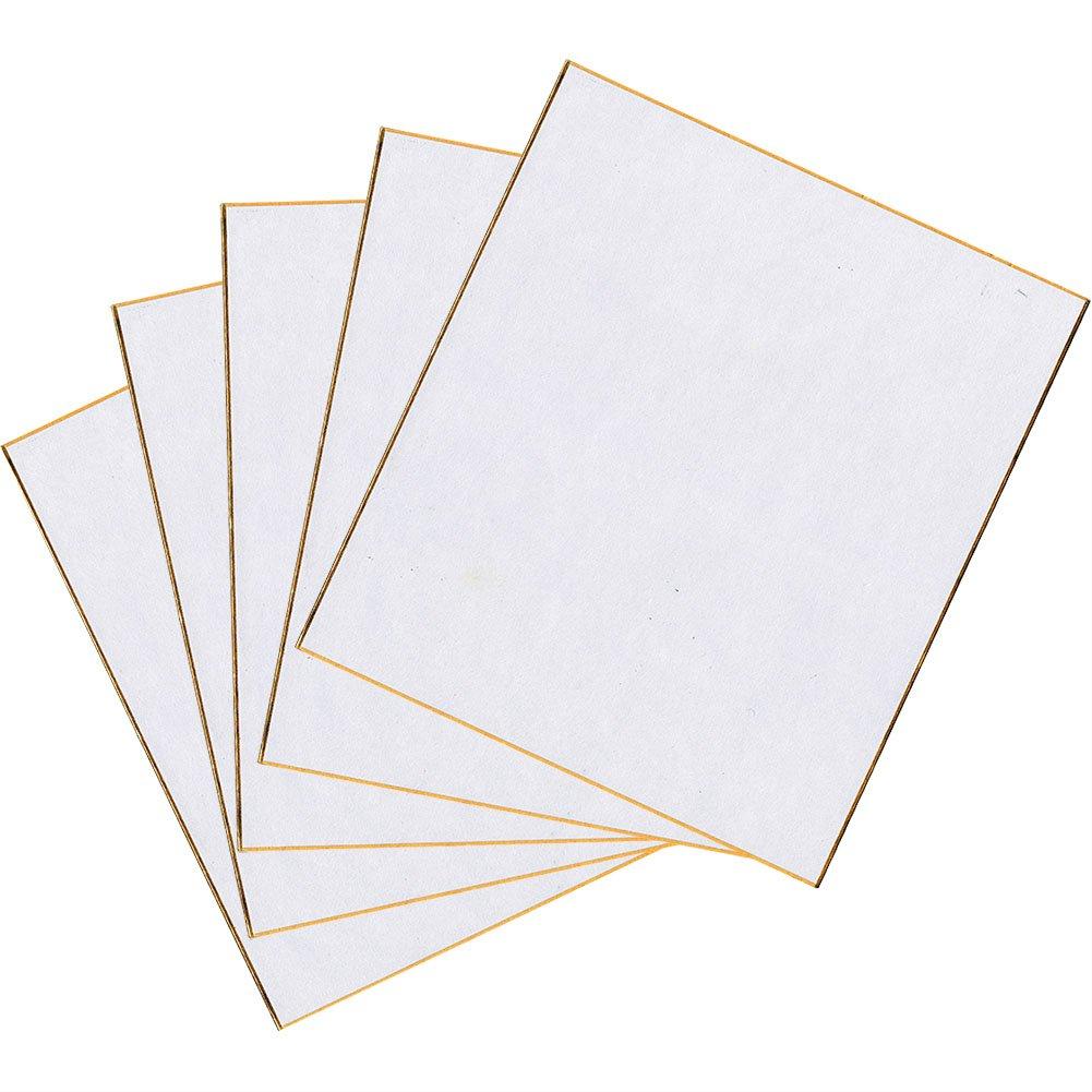 呉竹 色紙 白 白色 奉書 5枚入 LA21-12