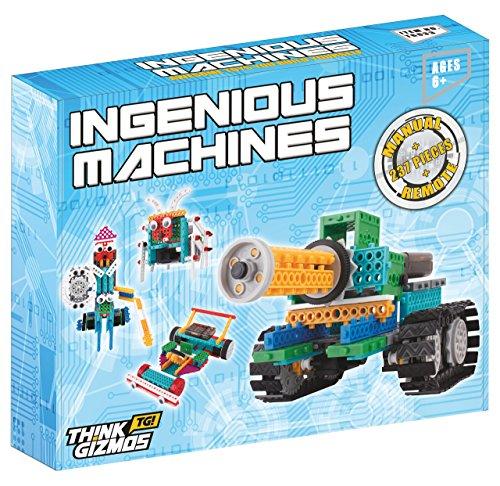 image Le kit robot pour enfants - Le Kit de construction de jouet télécommandé Ingenious Machines - Le fantastique et amusant Kit Robot &jouet de constructionTG633 par ThinkGizmos Protection de marque (Toutes les piles sont fournies)