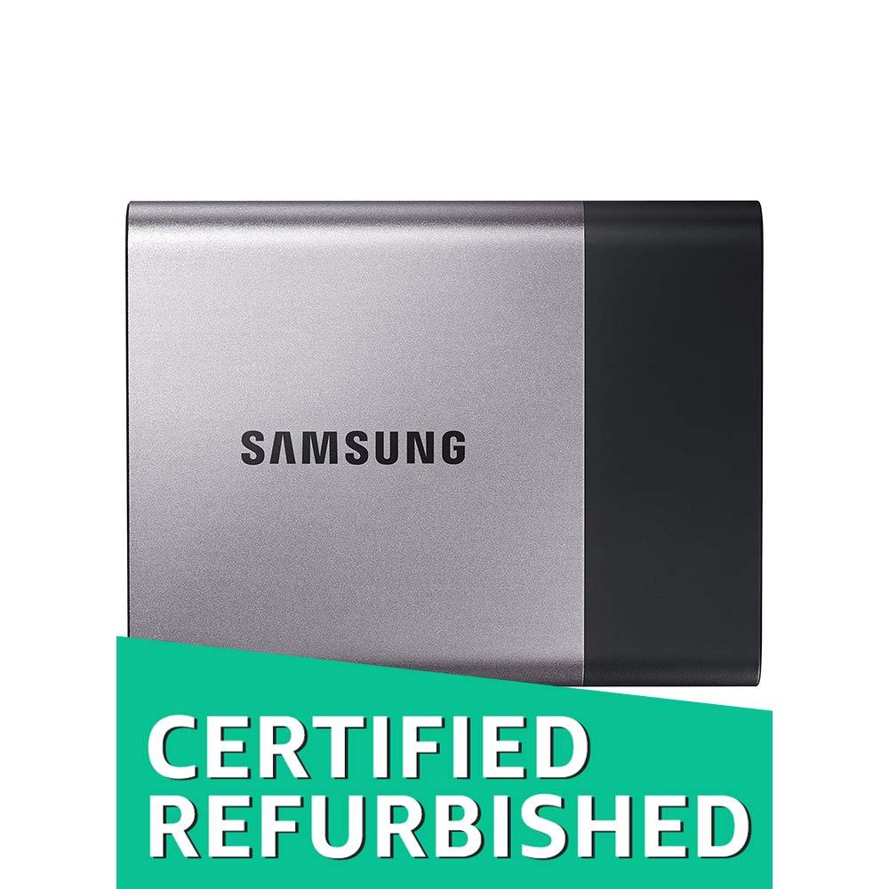 Samsung T3 Portable SSD - 1TB - USB 3.1 External SSD (MU-PT1T0B/AM) (Renewed)