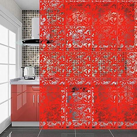 40 x 40 cm 4 Pezzi Yizunnu 40 x 40 cm Colore: Bianco Paravento da Appendere in Legno e plastica Bianco