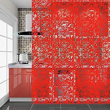 Yizunnu Juego de 4 paneles separadores de PVC para colgar en el ...