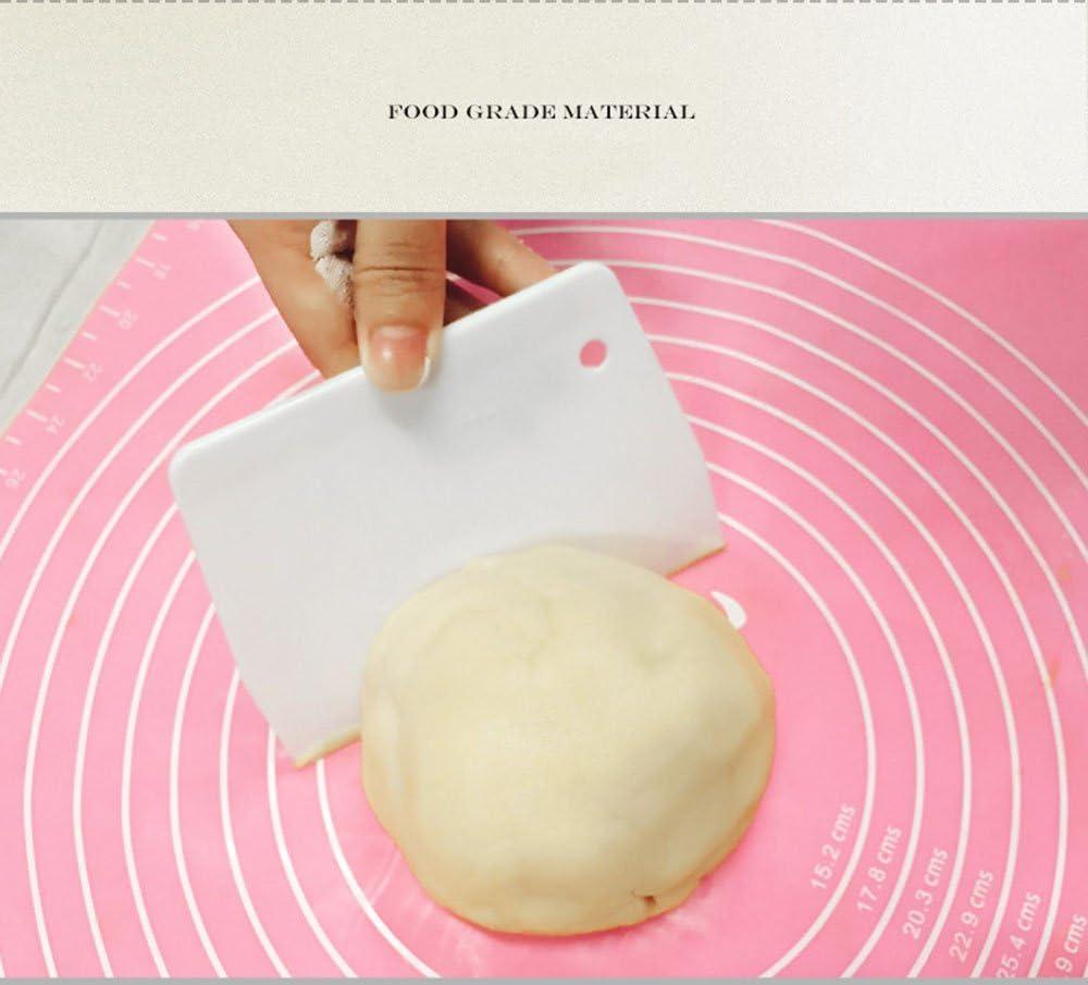 Flexible Plastic Dough Scraper Butter cake Tools Safe Plastic Kitchen Cutter NS