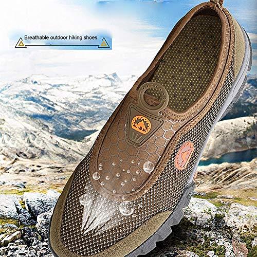 Gray Scarpe Trekking Da Alpinismo Con Wqing Leggere Lacci Sportive Antiscivolo Ginnastica vwH1yq