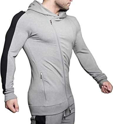 Mens Bodybuilding Workout Hooded Long Sleeve Workout Training Sweatshirts Breathable Gym Training Hoodies