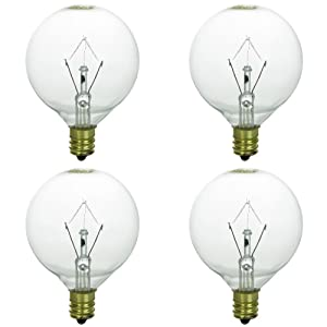 4 Pack 25WLITE 25 Watt Replacement light Bulb for Authentic Scentsy Full-Size Warmer