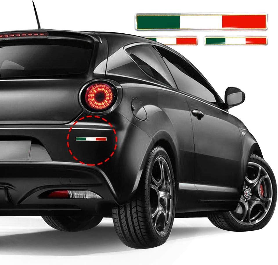 4R Quattroerre.it 32108 Aufkleber 3D Italien Flagge HQ 3 St/ücke