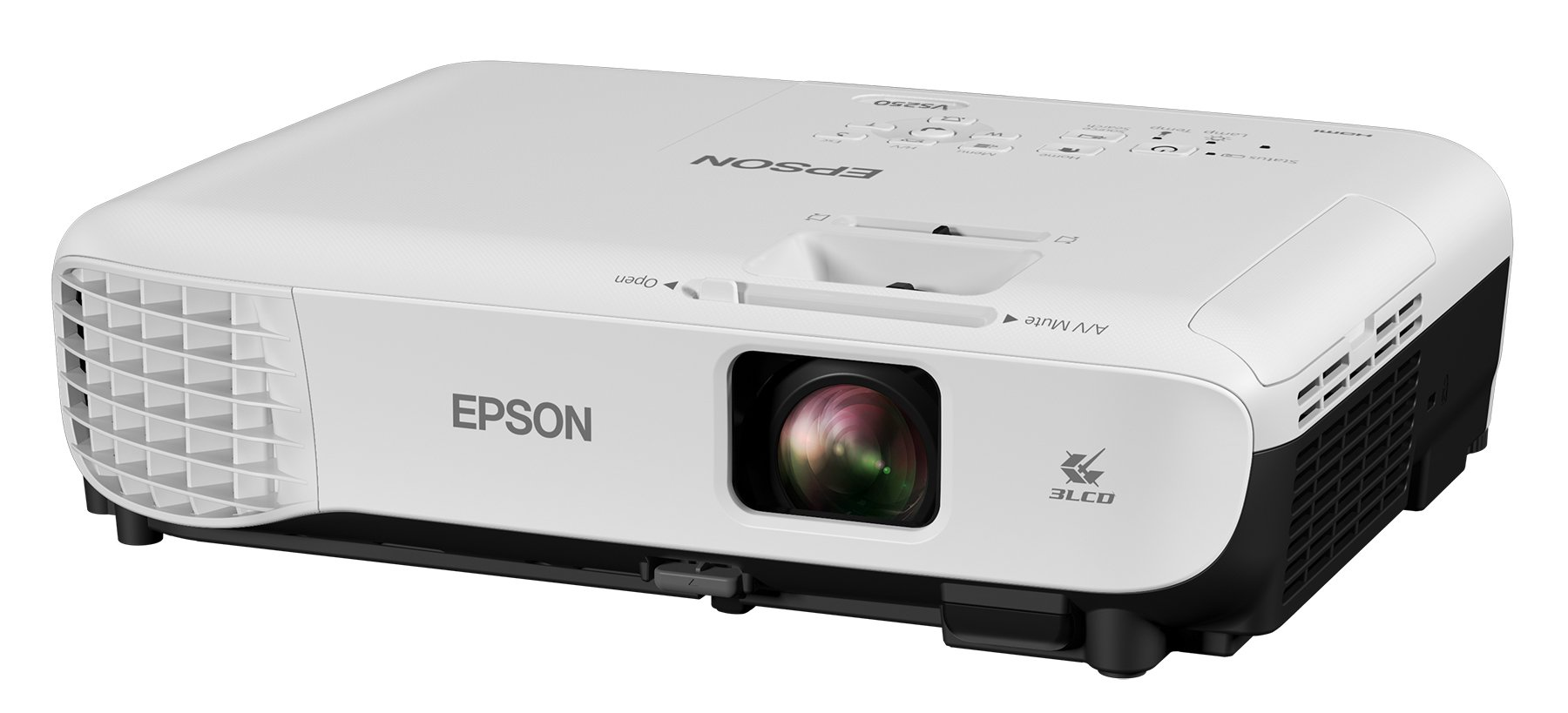 Epson VS250 SVGA 3,200 lumens color brightness (color light output) 3,200 lumens white brightness (white light output) HDMI 3LCD projector by Epson