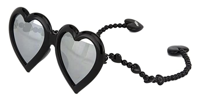2a22eb164f69 Amazon.com: LINDA FARROW Jeremy Scott HEART BlackSilver Mirrored ...