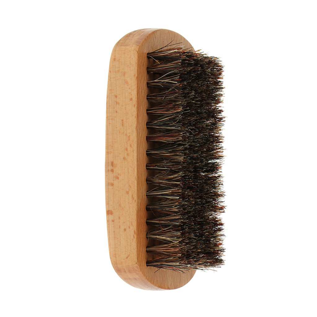 Baoblaze Synthetic Beard Brush, Mustache Brush for Mustache Styling & Maintenance, Men Grooming Shave Tool