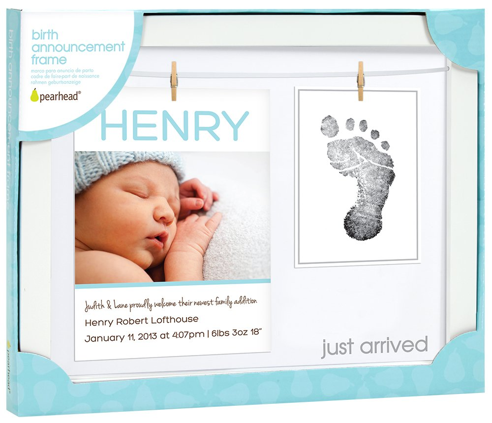 Pearhead Babyprints Announcement Frame (White) 13042
