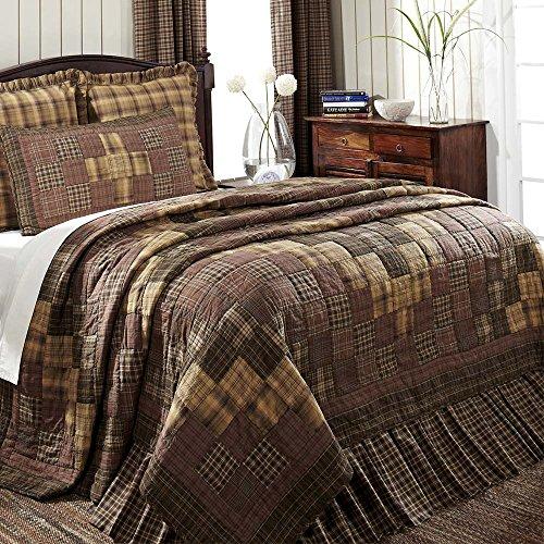 VHC Brands Rustic & Lodge Bedding - Prescott Brown Quilt, Queen (Magnolia Joanna Bedding Gaines)