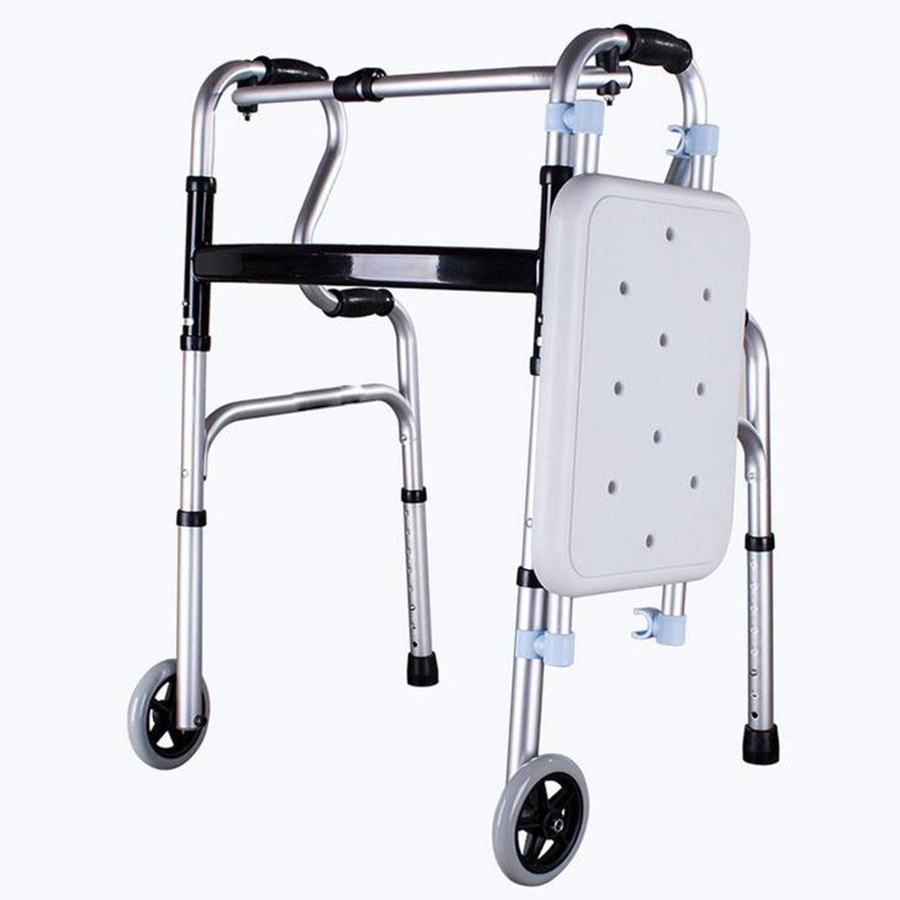 Sueño Ancianos andador (con asiento) de aluminio ligero ...