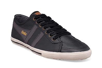 Gola Quoda Leather, Dark Grey/Ecru, Baskets Cuir Homme, 44 EU