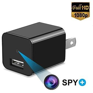 Cargador Oculto De La Pared De La Cámara Espía HD 1080P HD para El Uso En